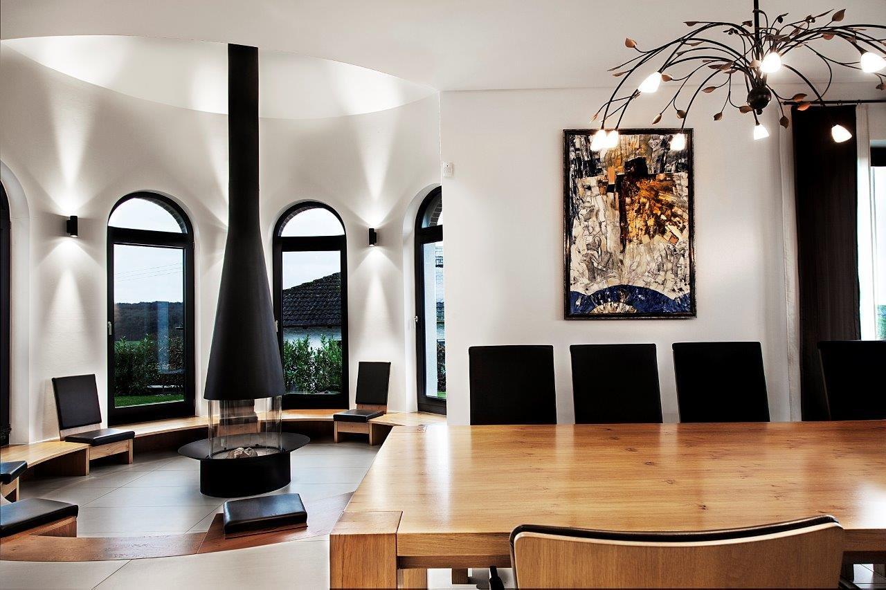 Innengestaltung neubau einfamilienhaus in waldsachsen for Neubau einfamilienhaus